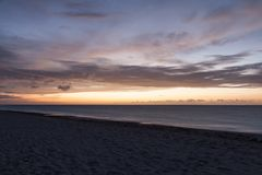 Il litorale della Cuba Spiaggia di Varadero Tramonto Fotografia Stock