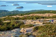 Il litorale della Maine dalla sosta nazionale di Acadia Immagine Stock
