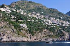 Il litorale di Amalfi, Costiera Amalfitana, Italia Fotografia Stock Libera da Diritti