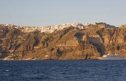 Il litorale di Santorini Fotografia Stock