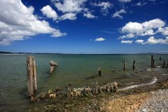 Il litorale vicino a Bangor Immagini Stock Libere da Diritti