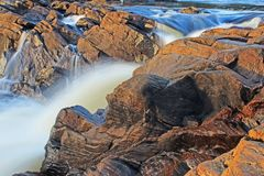 Il livello di Muskoka cade l'esposizione lunga Fotografia Stock Libera da Diritti