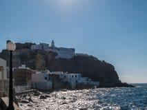 Il locale greco tipico alloggia il mar Egeo dell'isola di Nisoros Immagini Stock Libere da Diritti