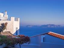 Il locale greco tipico alloggia il mar Egeo dell'isola di Nisoros Immagine Stock Libera da Diritti
