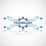 Il logo astratto della tecnologia con riflette Immagini Stock Libere da Diritti