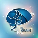 Il logo blu di sogno del cervello Fotografie Stock