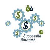 Il logo concettuale del sistema finanziario globale, symbo unico illustrazione vettoriale