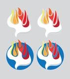 Il logo del fuoco di Spirito Santo Fotografia Stock Libera da Diritti