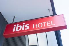Il logo dell'hotel dell'ibis Fotografia Stock