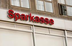 Il logo della banca tedesca Sparkasse Fotografia Stock