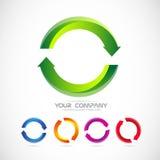 Il logo della freccia del cerchio ricicla Immagine Stock