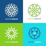 Il logo della mandala ha messo le collezioni Illustrazione astratta floreale di vettore del cerchio dell'icona illustrazione vettoriale