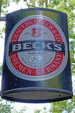 Il logo della marca Beck Fotografia Stock Libera da Diritti