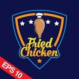 Il logo di Fried Chicken, ha fissato il logo del pollo Immagine Stock Libera da Diritti