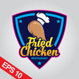 Il logo di Fried Chicken, ha fissato il logo del pollo Fotografie Stock