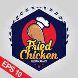 Il logo di Fried Chicken, ha fissato il logo del pollo Fotografia Stock