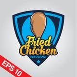 Il logo di Fried Chicken, ha fissato il logo del pollo Fotografia Stock Libera da Diritti