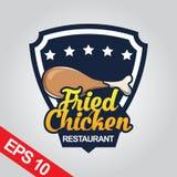 Il logo di Fried Chicken, ha fissato il logo del pollo Fotografia Stock