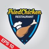 Il logo di Fried Chicken, ha fissato il logo del pollo Fotografie Stock Libere da Diritti