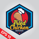 Il logo di Fried Chicken, ha fissato il logo del pollo Immagine Stock