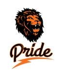 Il logo di un leone, illustrazione di vettore Immagine Stock Libera da Diritti