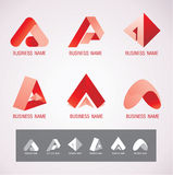 Il logo ed il simbolo progettano il concetto di A Immagine Stock