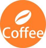 Il logo ed il modello dei chicchi di caffè Immagini Stock