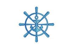 Il logo nautico e dell'ancora, marittimo e dei frutti di mare del ristorante progetta l'ispirazione isolati su fondo bianco illustrazione vettoriale