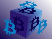 Il logo per Bitcoin ha collegato l'affare Immagine Stock