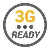 Il logo piano 3g con il livello PRONTO di segnale e di parola punteggia illustrazione di stock