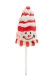 Il lollipop di natale ha isolato Fotografia Stock