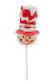 Il lollipop di natale ha isolato Fotografie Stock Libere da Diritti