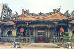 Il Longshan Temple di Taiwan Fotografia Stock Libera da Diritti