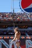 Il lottatore Daniel Bryan afferra il campionato intercontinentale come lui Fotografia Stock Libera da Diritti