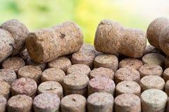Il lotto di vino tappa il fondo Immagine Stock