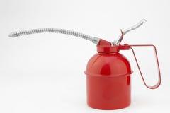 Il lubrificatore, olio può - ingrassatore a siringa dipinto d'acciaio Immagine Stock Libera da Diritti