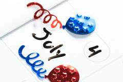 Il 4 luglio, festa dell'indipendenza felice Immagini Stock Libere da Diritti