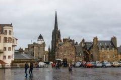 Il lungomare del castello di Edimburgo Immagine Stock