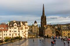 Il lungomare del castello di Edimburgo Fotografia Stock Libera da Diritti