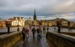 Il lungomare del castello di Edimburgo Fotografie Stock Libere da Diritti