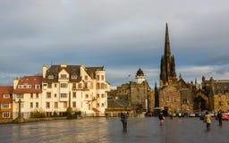 Il lungomare del castello di Edimburgo Fotografia Stock