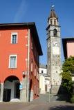 Il lungomare di Ascona sulla Svizzera Immagini Stock