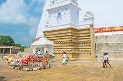 Il luogo santo in Anuradhapura Fotografia Stock Libera da Diritti