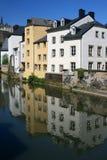 Il Lussemburgo alloggia la riflessione Immagine Stock Libera da Diritti
