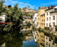 Il Lussemburgo sul canale Fotografia Stock Libera da Diritti