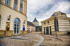 Il Lussemburgo vicino al quartiere ispanico Grund Immagine Stock