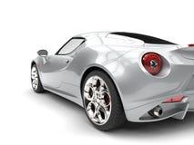 Il lusso d'argento luminoso mette in mostra il colpo automobilistico del primo piano della luce della coda illustrazione di stock