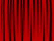 Il lusso piega la tenda rossa e molte ombre Immagine Stock Libera da Diritti