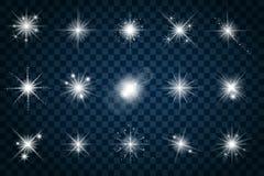 Il lustro stars con gli scintilli e scintilla illustrazione di stock
