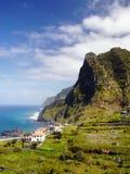 Il Madera, paesaggio scenico della costa del nord, Portogallo Immagine Stock Libera da Diritti